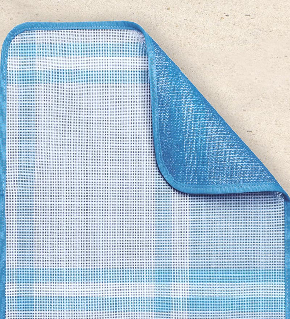 Small Blue Plaid Sand-Free Beach Mat