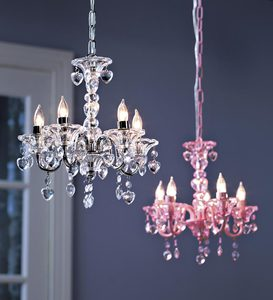 Crystal Hearts Chandelier for Kids' Rooms