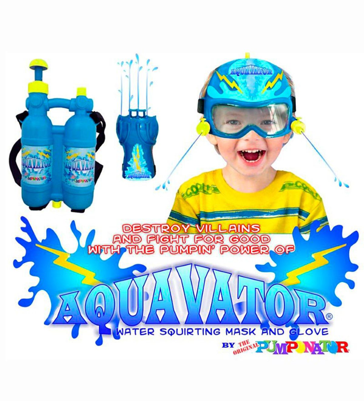 Aquavator® Water Squirting Mask and Glove