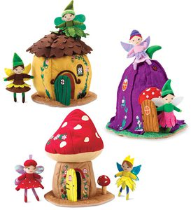 Woodland Fairy Home and Posable Fairy Dolls