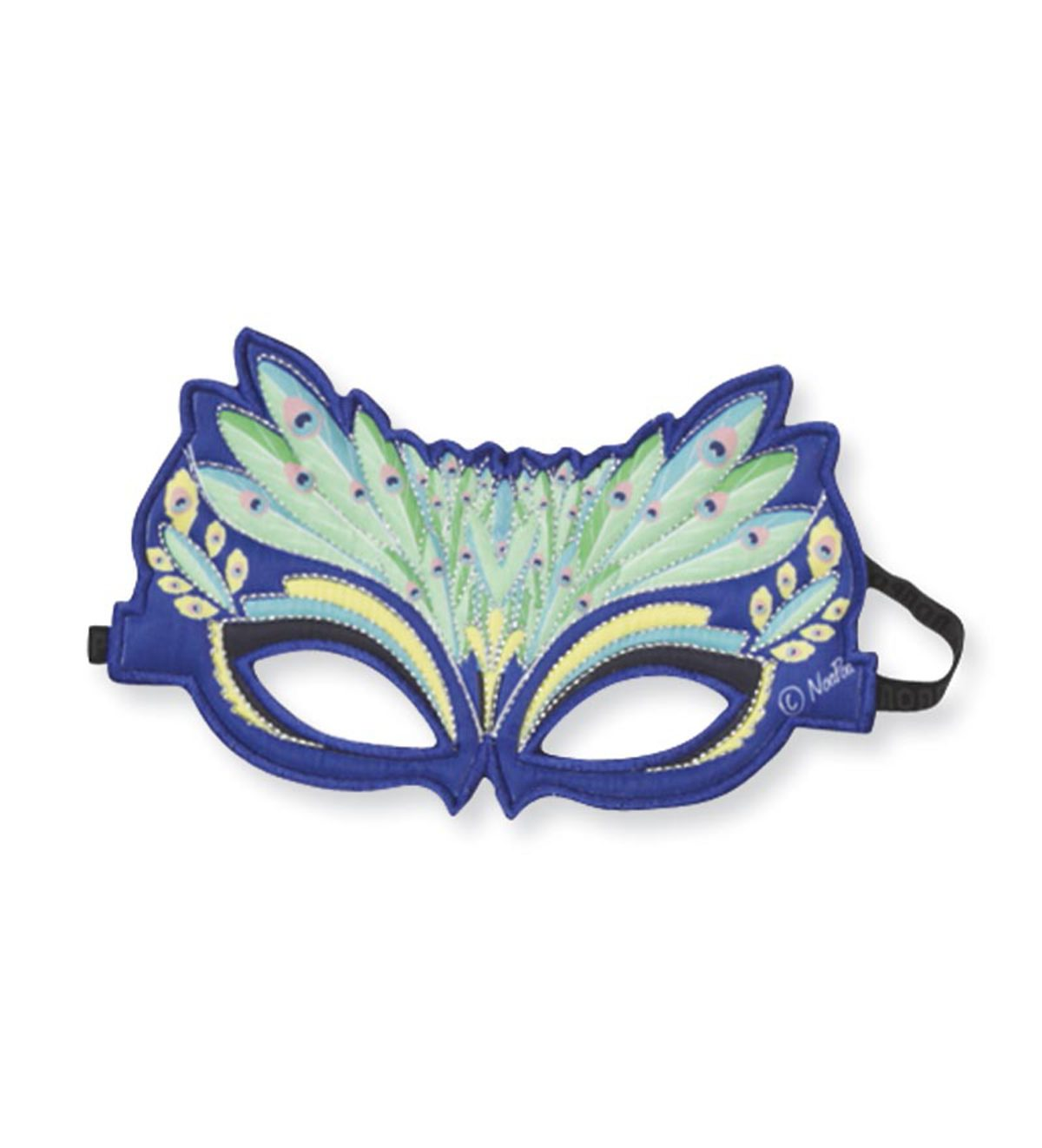 Fanciful Fabric Peacock Mask