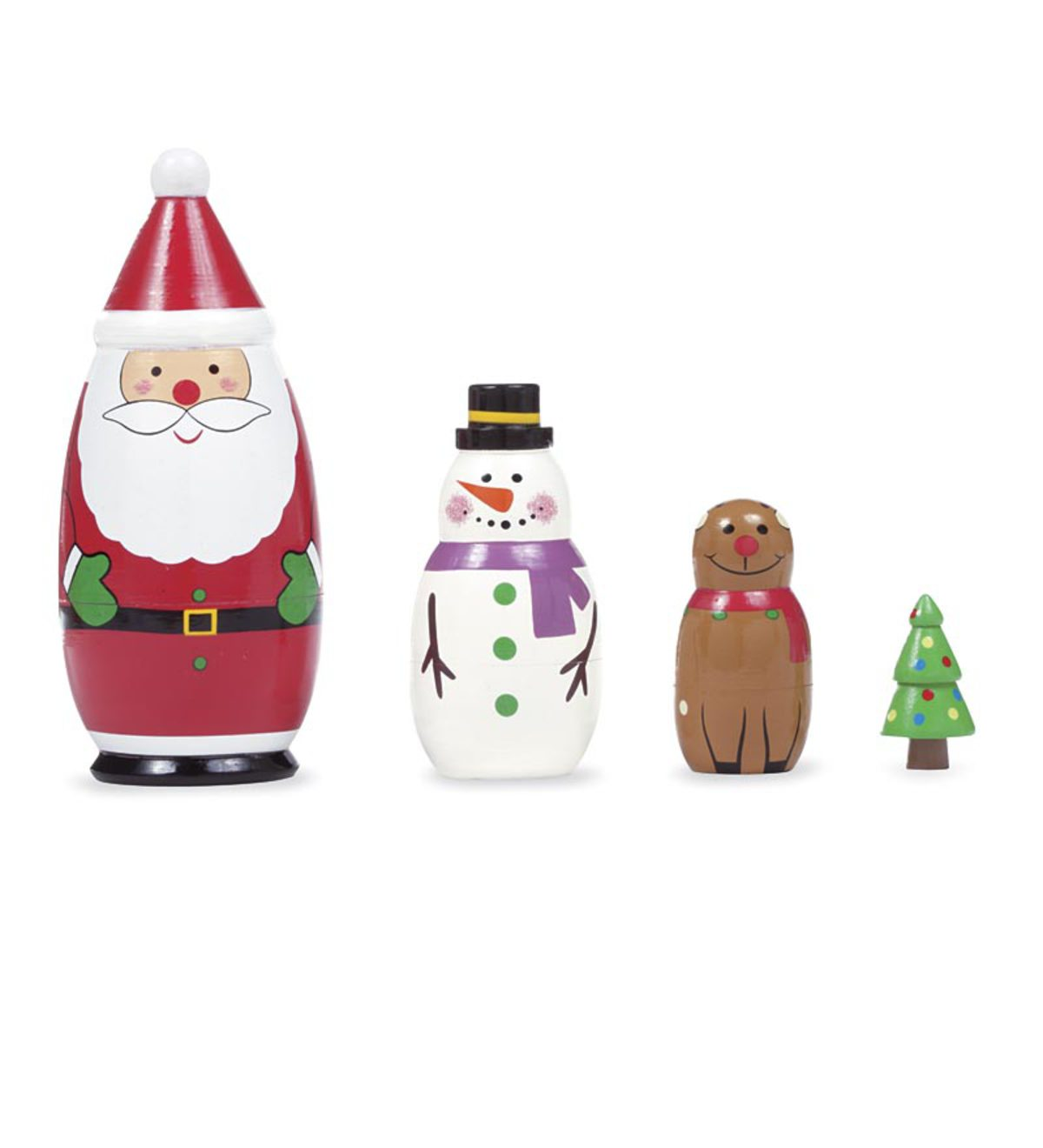 Nesting Wooden Holiday Set