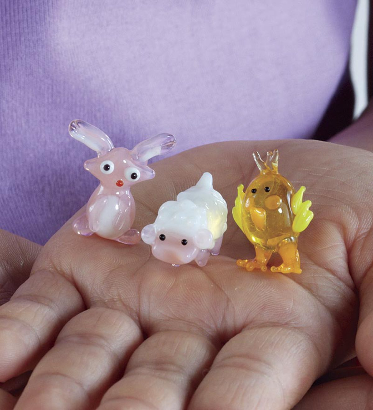 Easter Creatures Glass Figurines