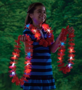 Set of Three Light-Up Leis
