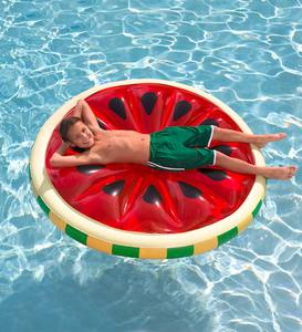 Watermelon Inflatable Island Pool Float