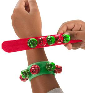 Jingle Bell Slap Bracelets (Set of 4)