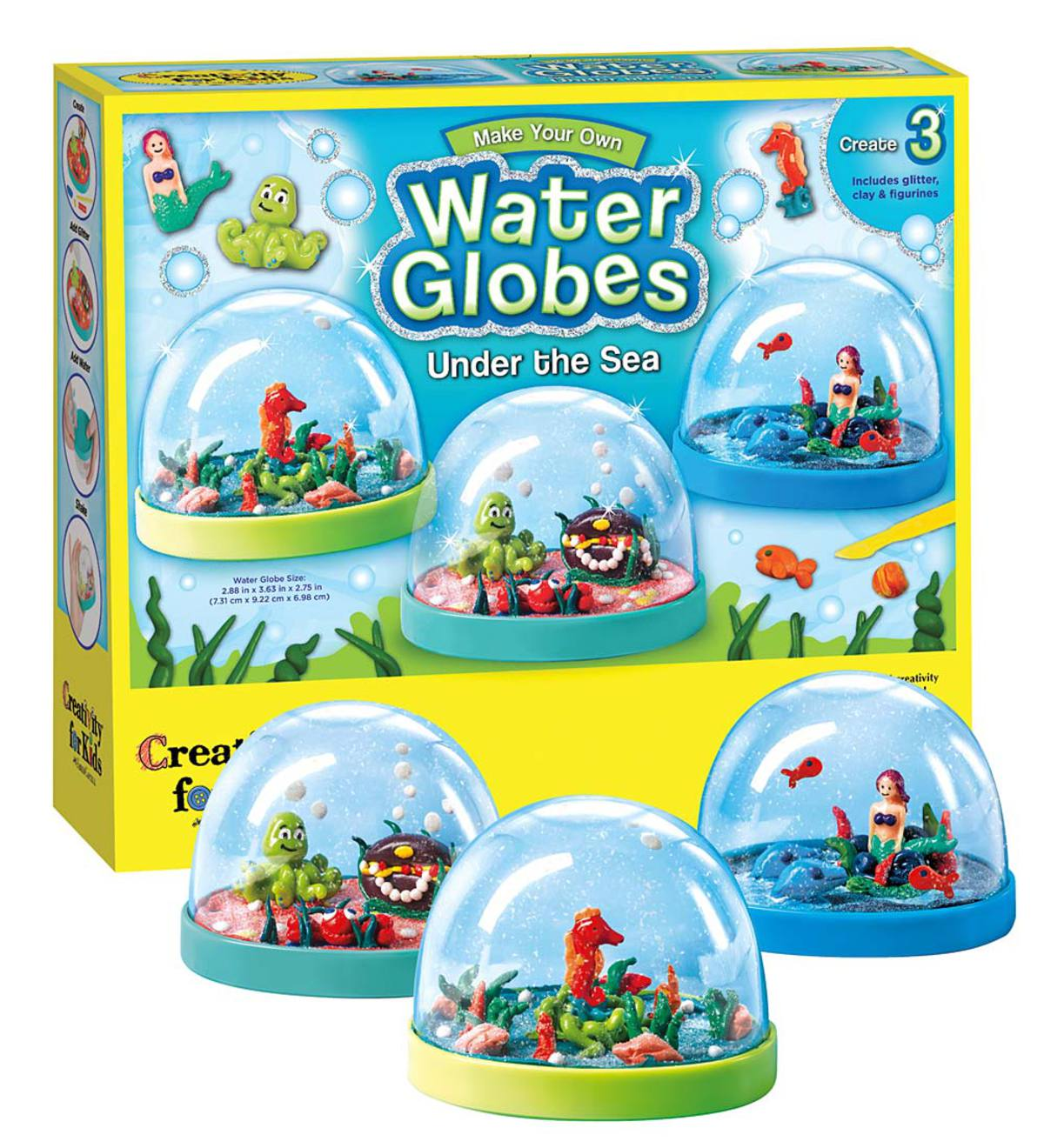 Set of Three Under-the-Sea Water Globes Craft Kit