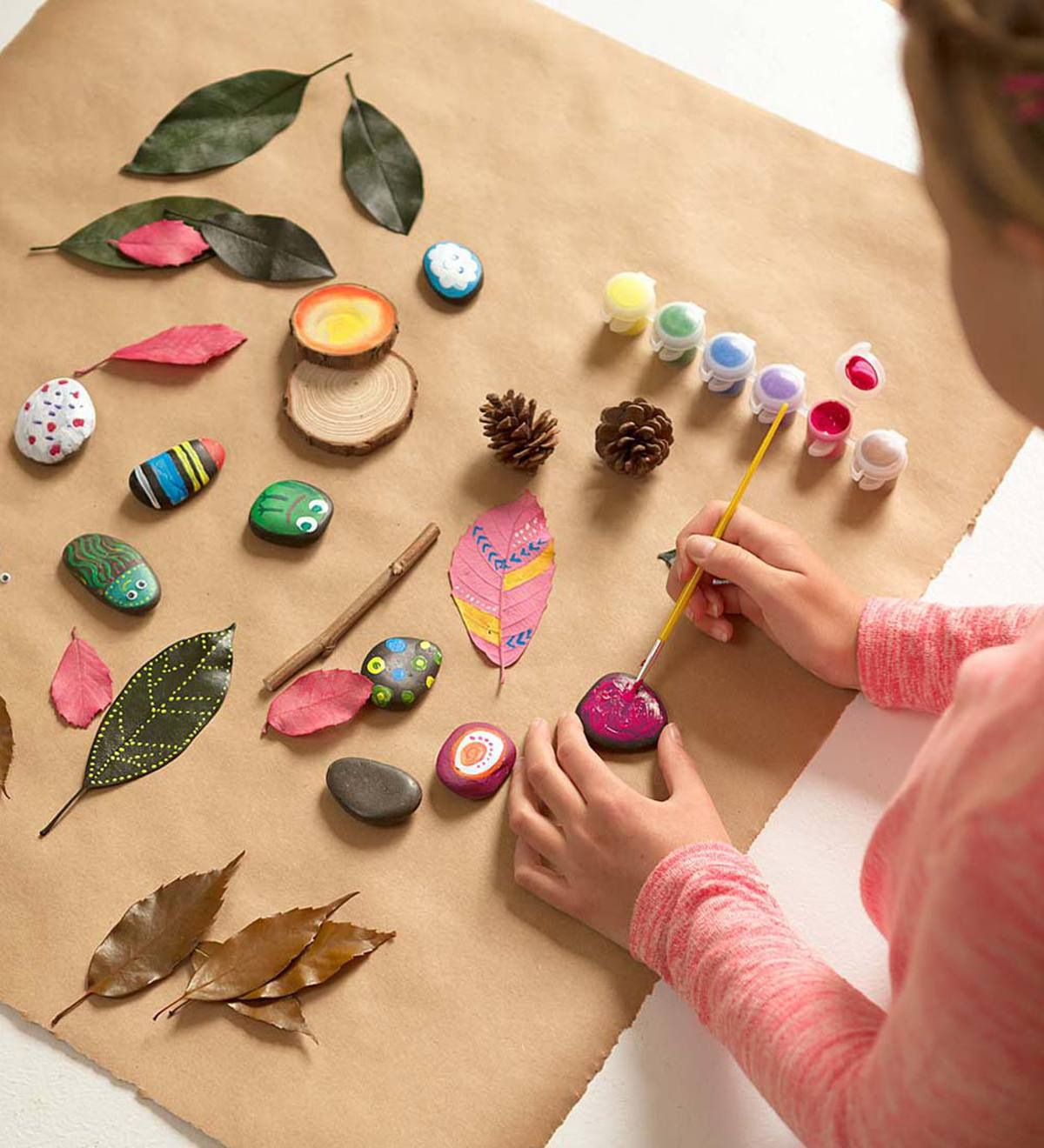Crafty Creations Rock and Leaf Painting Kit