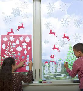 ChalkScapes® Holiday Stencils and Window Markers