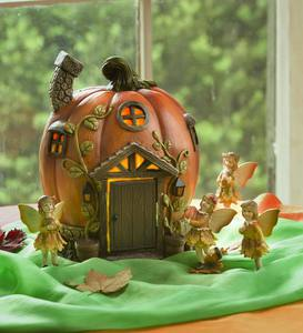 Light-Up Enchanted Fairy Pumpkin House