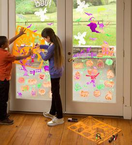 ChalkScapes® Halloween Stencil & Window-Writer Kit