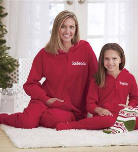 Personalized Footed Pajamas with Hood