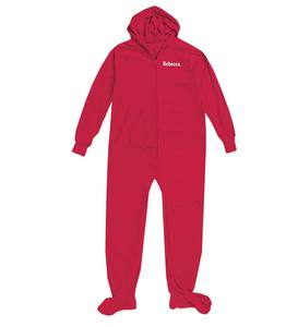 Personalized Footed Pajamas with Hood - Red - 12M