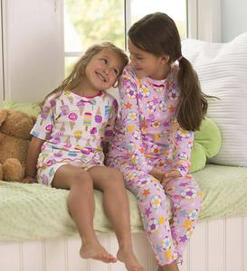 Long Cotton Ruffle Pajamas