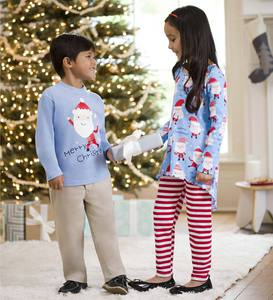 Santa Faces Tunic & Tee
