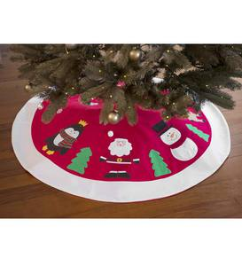 Personalized Holiday Friends Tree Skirt
