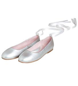 Lace-Up Ballet Flat - Pink - Size 11