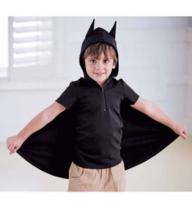 Hooded Bat Top with Cape