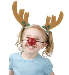 Jolly Head Clips and Santa Nose Set