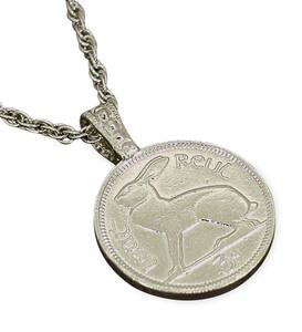 Lucky Coin Rabbit Pendant