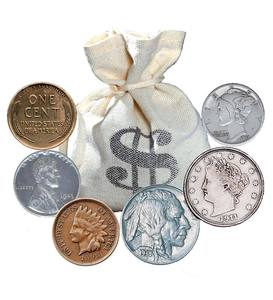 Bankers Bag of Old Rare Coins—60 Coins