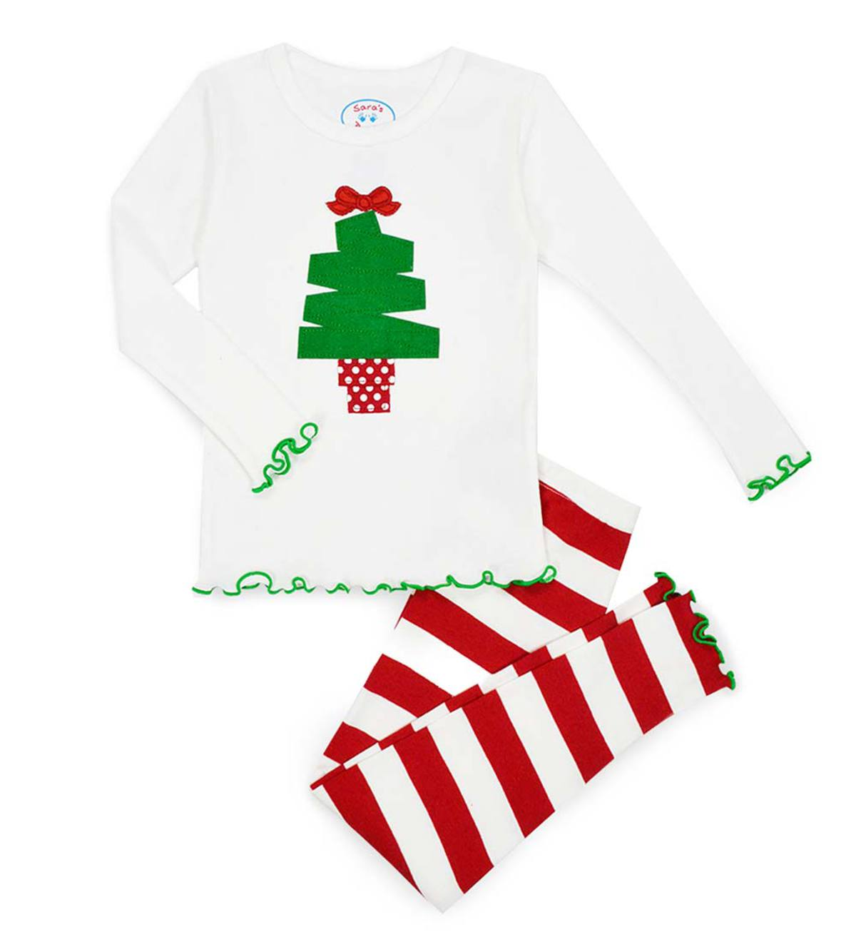 Christmas Tree Pajamas - White - 10