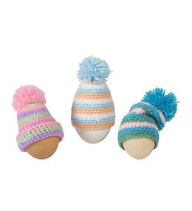 Crocheted-Hat Egg Topper