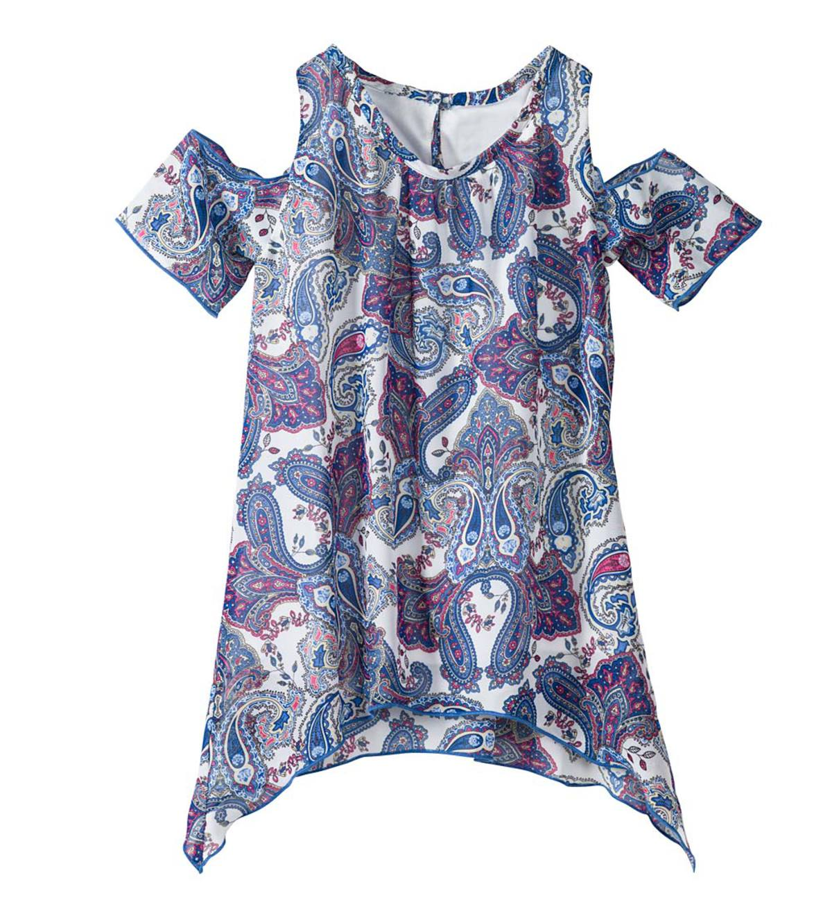 Paisley Open Shoulder Top - Multi - 4