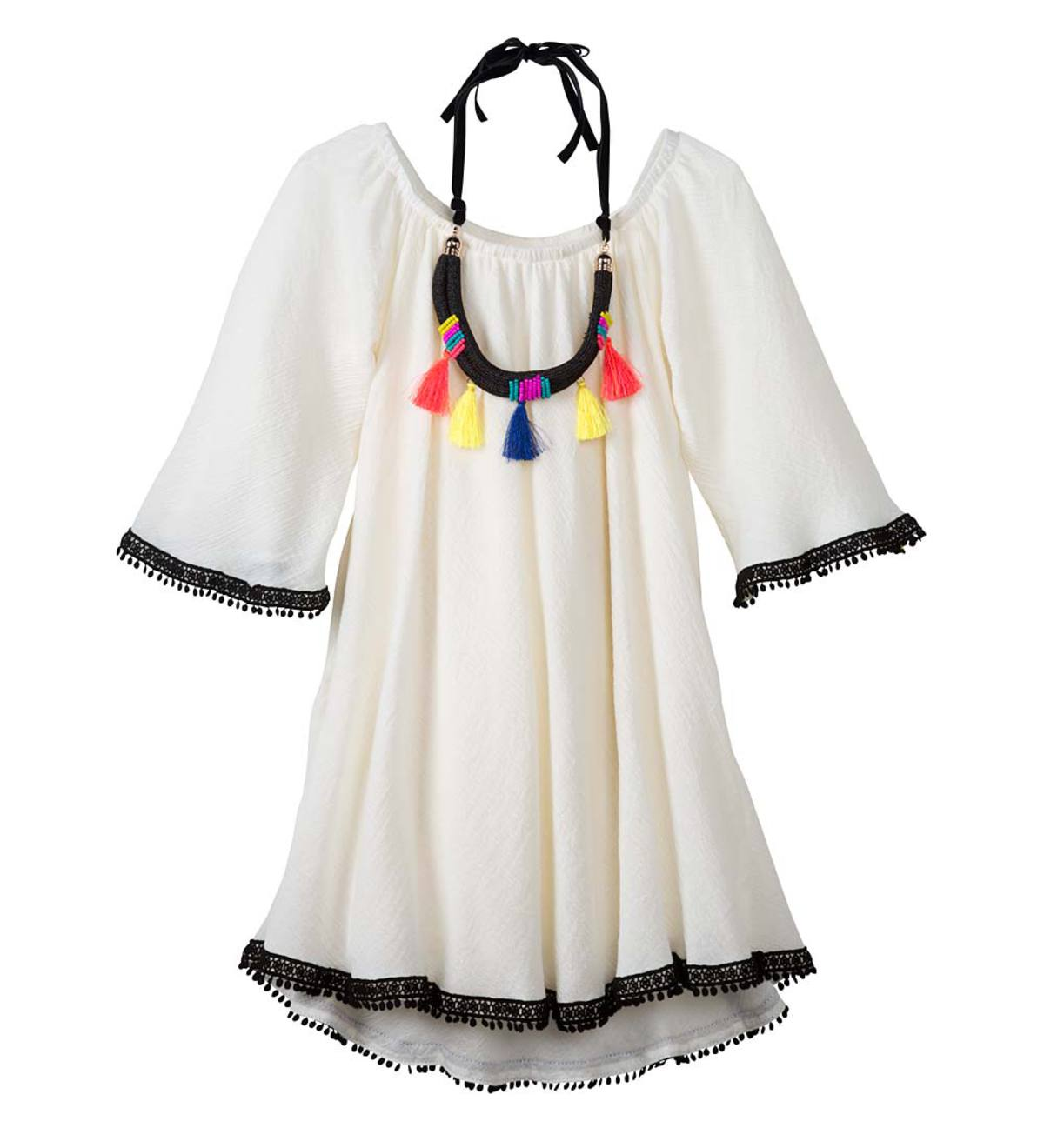 Gauze Dress and Necklace - Multi - 12