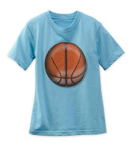 Short Sleeve Basketball Graphic Tee - Blue - 2T