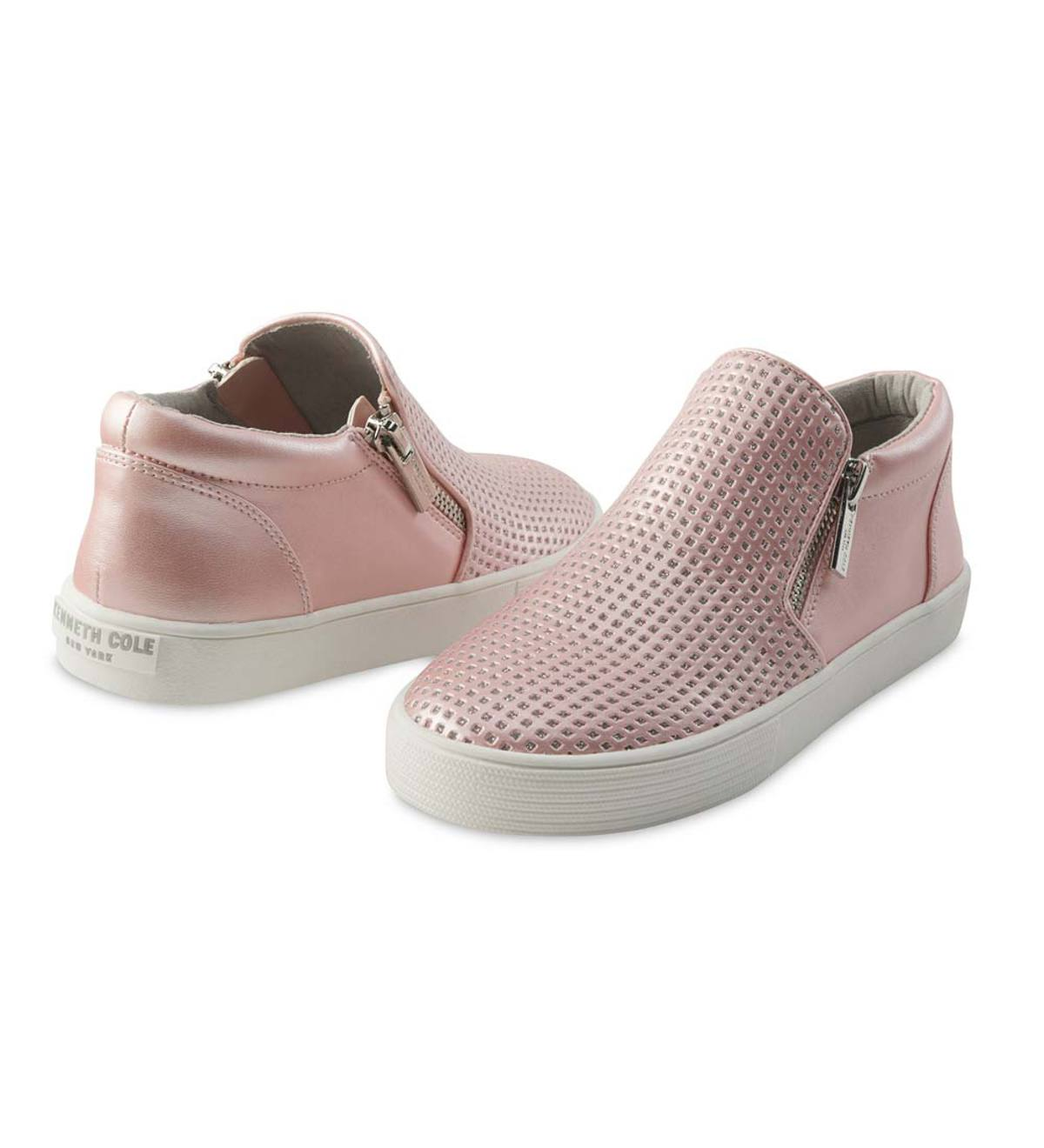 Kenneth Cole Reaction Glitter Mid-Top Slip-On Sneaker - Pink - 1