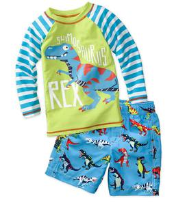 Long Sleeve Dino Rash Guard - Multi - 2