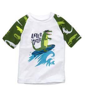 Long Sleeve Raglan Alligator Rash Guard