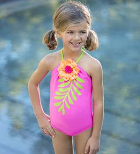 Flower Leaf One-Piece Swimsuit
