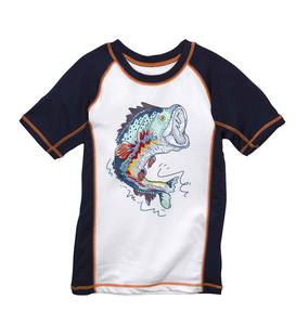 Short Sleeve Fish Raglan Rash Guard