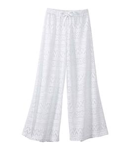 Crochet Beach Pants - White - /12