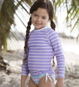Kissy Fish Two-Piece Swimsuit and Rash Guard Set