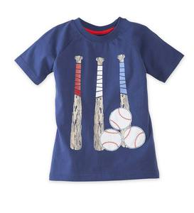 Short Sleeve Baseballs and Bats Graphic Tee