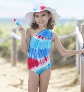Tie Dye One-Shoulder One-Piece Swimsuit
