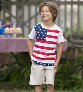 Short Sleeve American Flag Tee
