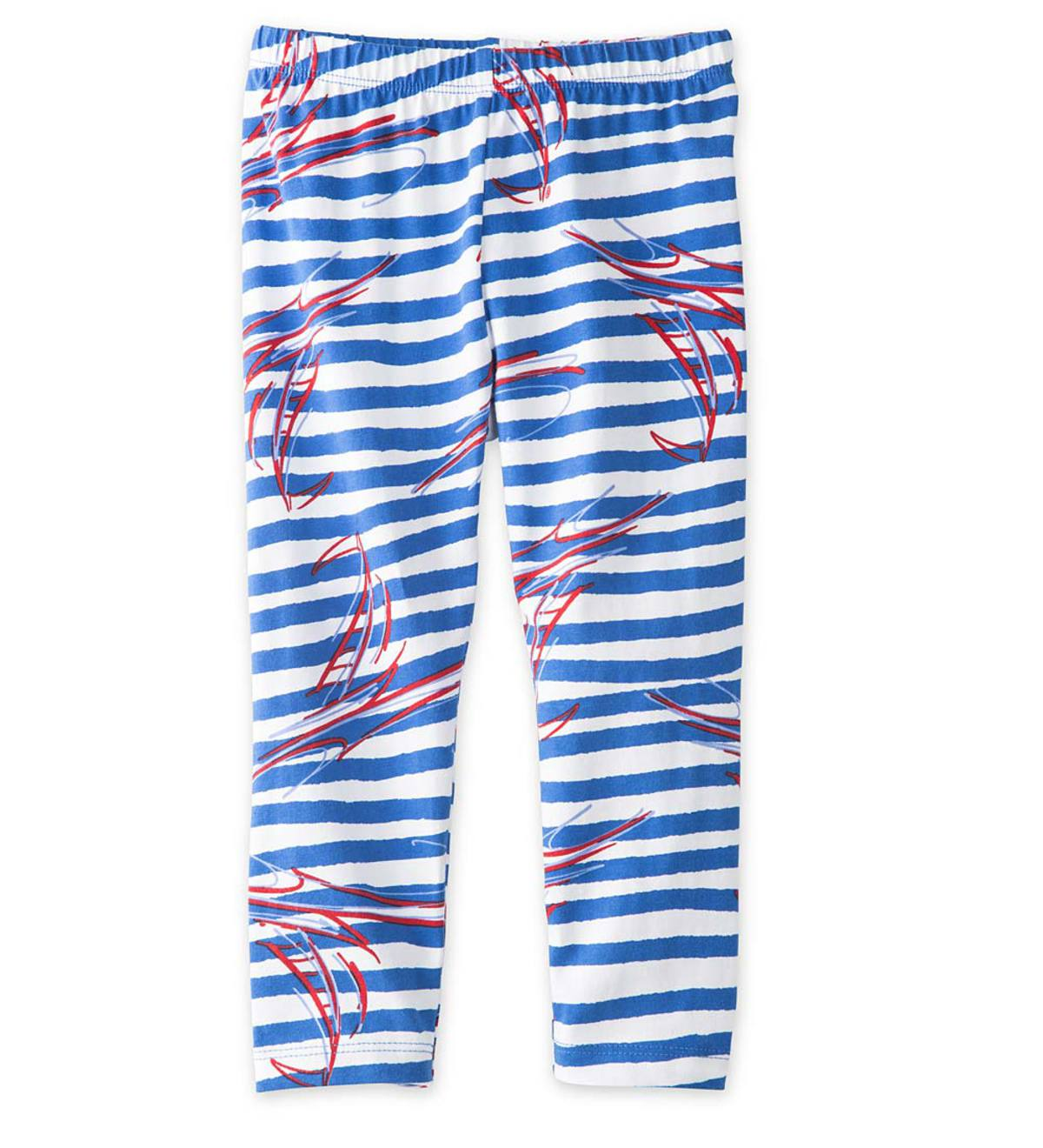 Boats and Stripes Leggings - BL - 7