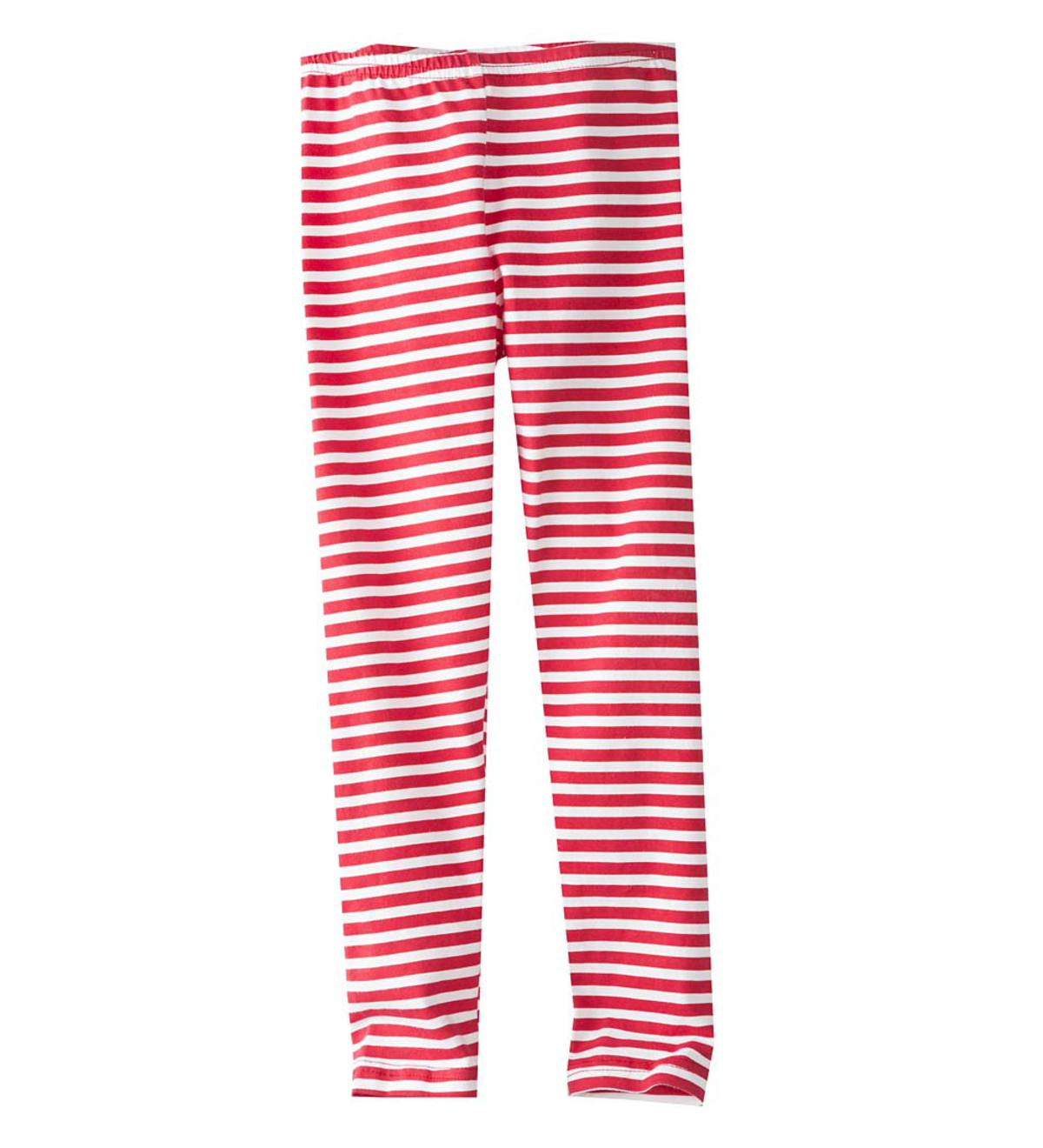 Red-and-White-Striped Capri Leggings - MLT - 10