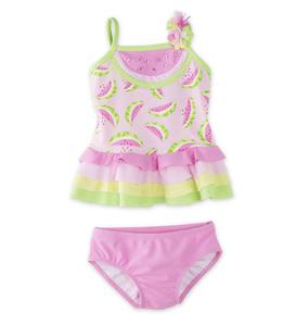 Watermelon Ruffles Two-Piece Swimsuit