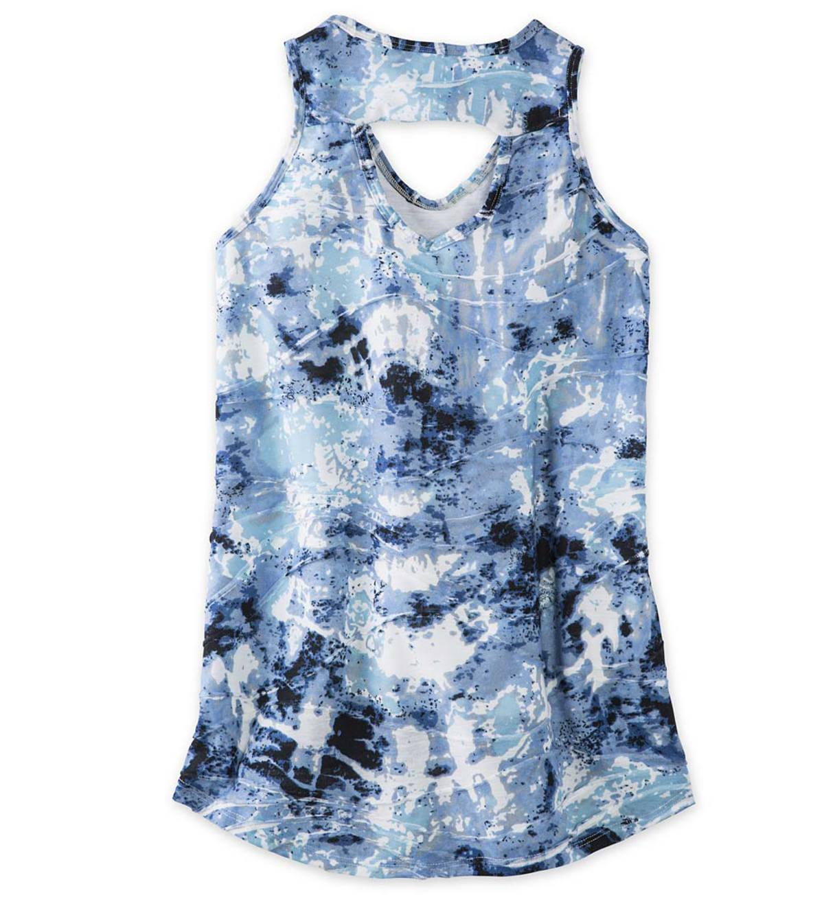 V-Neck Tie Dye Tank Top - MLT - 10