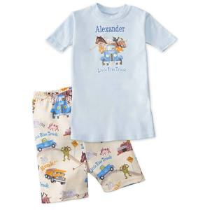 "Short Personalized ""Little Blue Truck"" Pajamas"