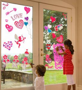 ChalkScapes® Valentine Stencils and Window Chalk Markers