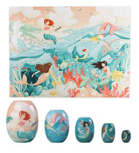 Mermaid Nesting Set & Mermaid Puzzle Special