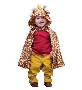 Plush Toddler Giraffe Dress-Up Cape