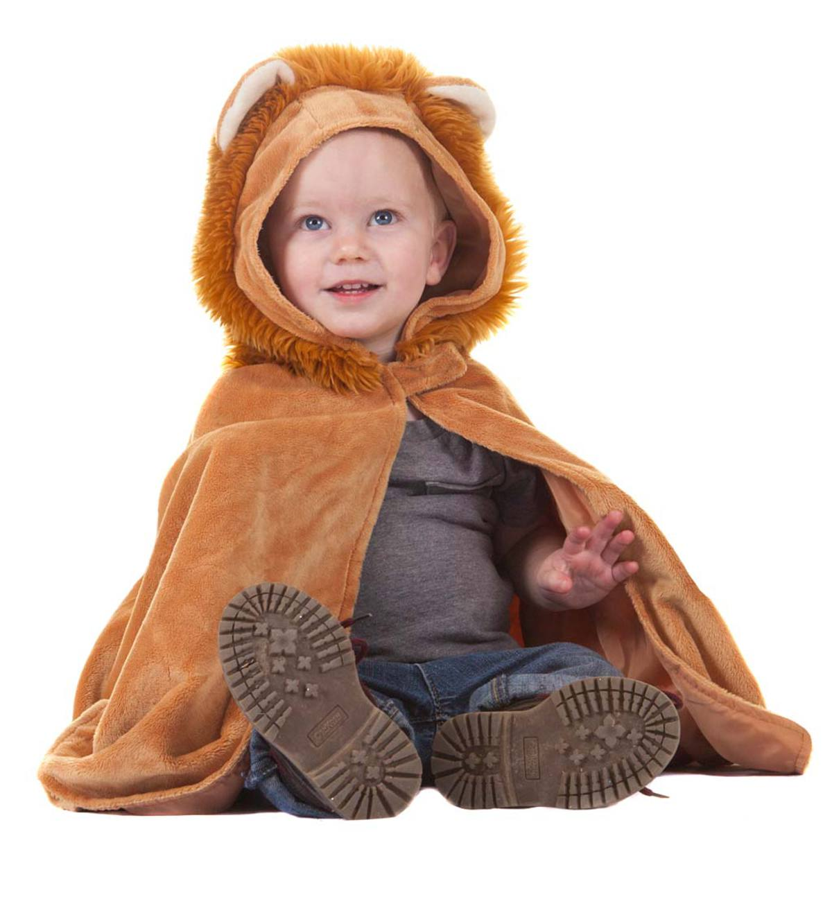 Plush Toddler Lion Dress-Up Cape