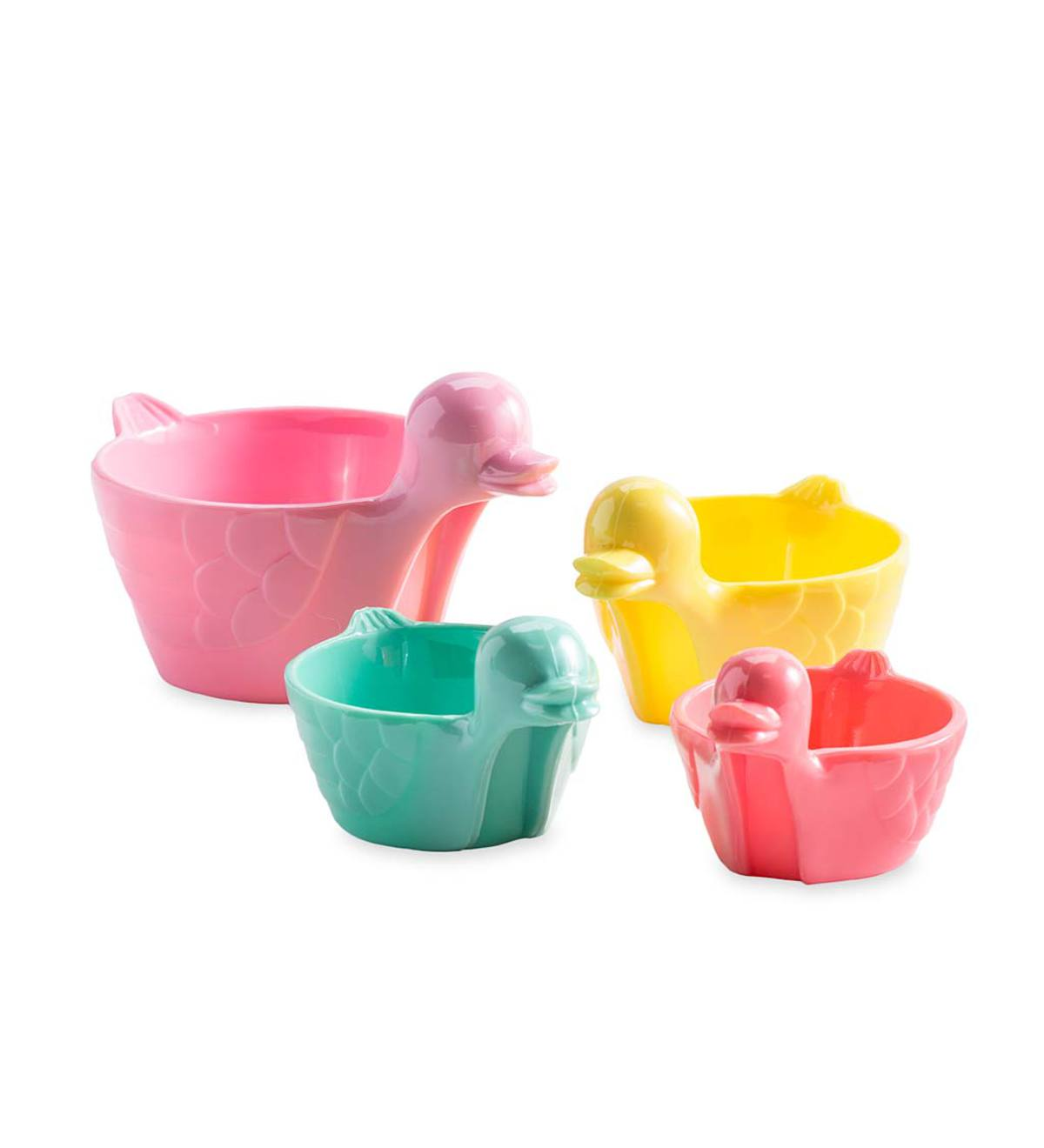 Colorful Measuring Duck Cups (set of 4)
